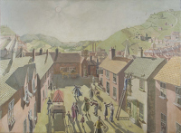 Artist Drusilla Mary Way: Village Scene, August 1928