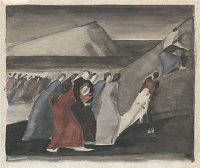 Artist Winifred Knights: Early compositional study for The Deluge