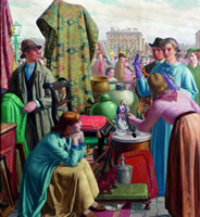 Artist Harry Morley: The Calledonian Market , 1936