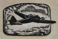 Artist Keith Henderson: Bristol Blenheim Mark I: Illustrations for Cecil Lewis's Sagittarius Rising, circa 1940